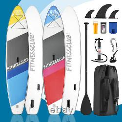 11' Inflatable Stand up Paddle Board Surfboard Paddleboard SUP 3Fin Complete Kit