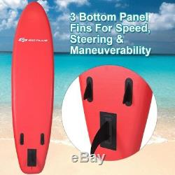 11 Inflatable Stand up Paddle Board Surfboard SUP with Adjustable Fin Paddle US