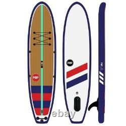 11 POP PADDLEBOARDS Yacht Hopper Black Inflatable Stand Up Paddle Board SUP KIT