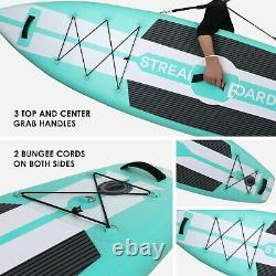 11' Streakboard Inflatable Stand Up Paddle Board SUP Surfboard with complete kit