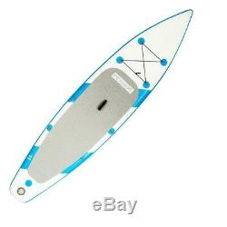 11' Water Sports Inflatable Stand Up Paddle Surf Board SUP Package Paddle Kayak
