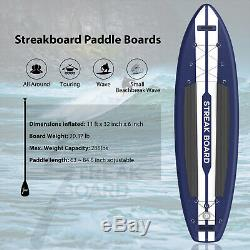 11ft Inflatable SUP Professional Surfing Stand Up Paddle Board Portable Full Kit