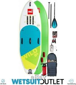 2019 Red Paddle Co Wild 9'6 Inflatable Stand Up Paddle Board + Bag Pump Paddle