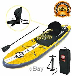 2 IN 1 Inflatable Paddle Board Stand Up SUP Comes with Adjustable Aluminum Paddl