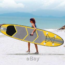 305x76 x15cm Inflatable Surfing Board Soft Surf Stand Up Paddle Board With Bag FUN