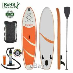 6 Thick Inflatable Stand Up Paddle Board SUP Wide Stance withBottom Fins NEW MA