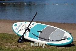 7'6 Youth Inflatable Stand Up Paddle Board ISUP withCarry Bag & Adjustable Paddle