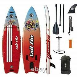 9 Inflatable Stand-Up Paddle Board ISUP Sail Fin WASTELAND