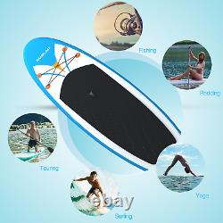 9 ft. Inflatable Stand Up Paddle Board with One-Way Sup Dedicated Pump Backpack