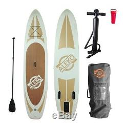 ALEKO Inflatable Stand Up Paddle 6x30x132 Board 3 Fins with Carry Bag
