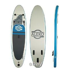 ALEKO Inflatable Stand Up Paddle 6x31x120 Board 3 Fins with Carry Bag