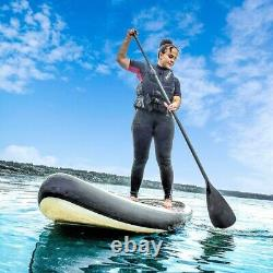 ALEKO Inflatable Stand Up Paddle 6x32x132 Board 3 Fins with Carry Bag