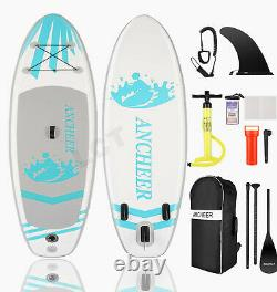 ANCHEER 10 Foot Inflatable Stand Up Paddle Board SUP & Kayak, White Black 6
