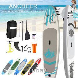 ANCHEER 10' Inflatable Stand Up Paddle Board 6 Thick SUP Surfboard Complete Kit