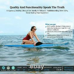ANCHEER 10ft Inflatable SUP Paddle Board Stand Up Surfboard Surfing Paddleboard