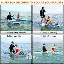 ANCHEER 11' Inflatable Stand Up Paddle Board SUP 3Fin Adjustable Paddle Backpack