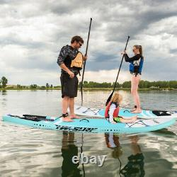 Adjustable Fin Paddle 10' Inflatable Super Stand Up Paddle Board Surfboard