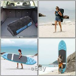 Ancheer 10' (6 Thick) Inflatable SUP Stand Up Paddle Board Package withPaddle