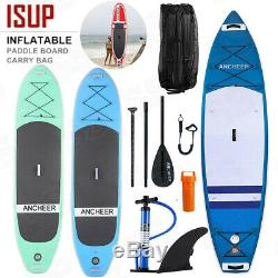Ancheer 11' 10' Inflatable SUP Stand Up Paddle Board, includes Pump, Paddle, Bag