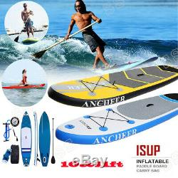 Ancheer Inflatable Stand Up Paddle Board with Adjustable Paddle 11'6'' & Carry Bag
