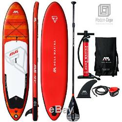 Aqua Marina Atlas 12' Stand Up Paddle Board Inflatable SUP with Paddle