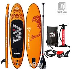 Aqua Marina Fusion Inflatable Stand Up Paddle Board with Paddle 10'4 (6 Thick)