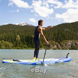 Aqua Marina Inflatable Beast 126 Inch Stand Up Paddleboard Set with Pump, Blue