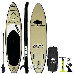 Atoll 11' Foot Inflatable Stand Up Paddle Board iSUP package NEW Desert Sand
