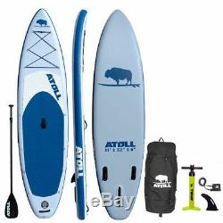Atoll 11' Foot Inflatable Stand Up Paddle Board package blue NEW 2019