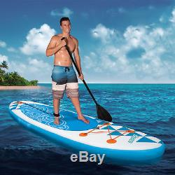 Banzai 10' Inflatable SUP Stand Up Paddle Board with Adjustable Paddle & Backpack