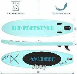 Bestway Hydro-Force 10 Foot Inflatable Stand Up Paddle Board SUP & Kayak NEW