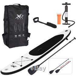 Black Paddle Board Sports Surf Inflatable Stand Up Water Racing SUP Bag Pump Oar