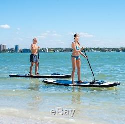 Blue Water 10ft 6in Tall Inflatable Stand Up Paddle Board SUP Complete Set