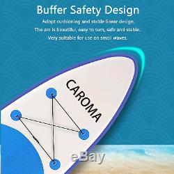 CAROMA10ft Inflatable Stand Up Paddle Board iSUP Adjustable Paddle Backpack