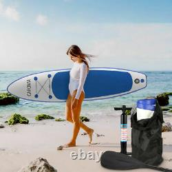 CAROMA 10.5' Inflatable Stand Up Paddle Board SUP with Pump Backpack 6'' Thick