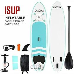 CAROMA 10' Inflatable Stand Up Paddle Board SUP Surfboard with complete kit