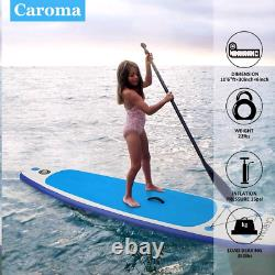 CAROMA 10' Inflatable Stand Up Paddle Board SUP Surfboard with complete kit New