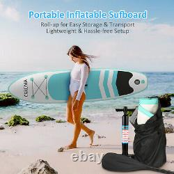 CAROMA 10ft Inflatable Stand Up Paddle Board SUP Surfboard With complete kits