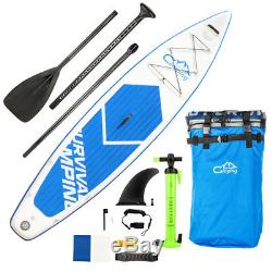 Camping Survivals 12'Inflatable Stand Up Paddle Board SUP Package Fins Paddle