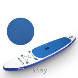 Caroma 10'6×30×6 Inflatable Paddle Board Stand Up Paddle Board + Backpack