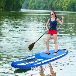 Costway 10.6' Inflatable Stand Up Paddle Board WithAdjustable Paddle Carry Bag