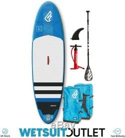Fanatic Fly Air 10'4 Inflatable SUP Stand Up Paddle Boarding Package Blue