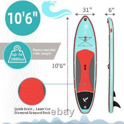 Freein 10'6 Stand Up Paddle Board Inflatable SUP Surfboard Kayak Seat