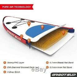 GREAT SUP 11' Explorer Inflatable Stand Up Paddle Board Package
