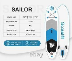 Goosehill Sailor Inflatable Stand-Up PaddleBoard Premium Light Tech 10'6326