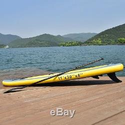 Goplus 11' Inflatable Stand Up Sport Surfing Paddle Board SUP with 3 Fins US