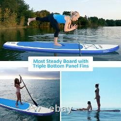 Hot 10-11ft 6'' Thick Complete Kit Surfboard Inflatable Stand Up PaddleBoard