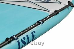 ISLE Pioneer Inflatable Stand Up Paddle Board (SUP) Package Blue
