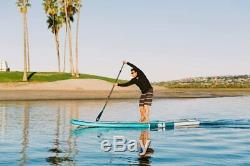 ISLE Surf & SUP 12'6 Discovery Inflatable Touring Stand Up Paddle Board Package