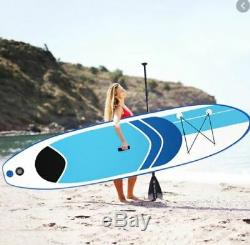 ISUP 10' Inflatable Stand Up Paddleboard Surfboard with SUP Paddle -Blue / White